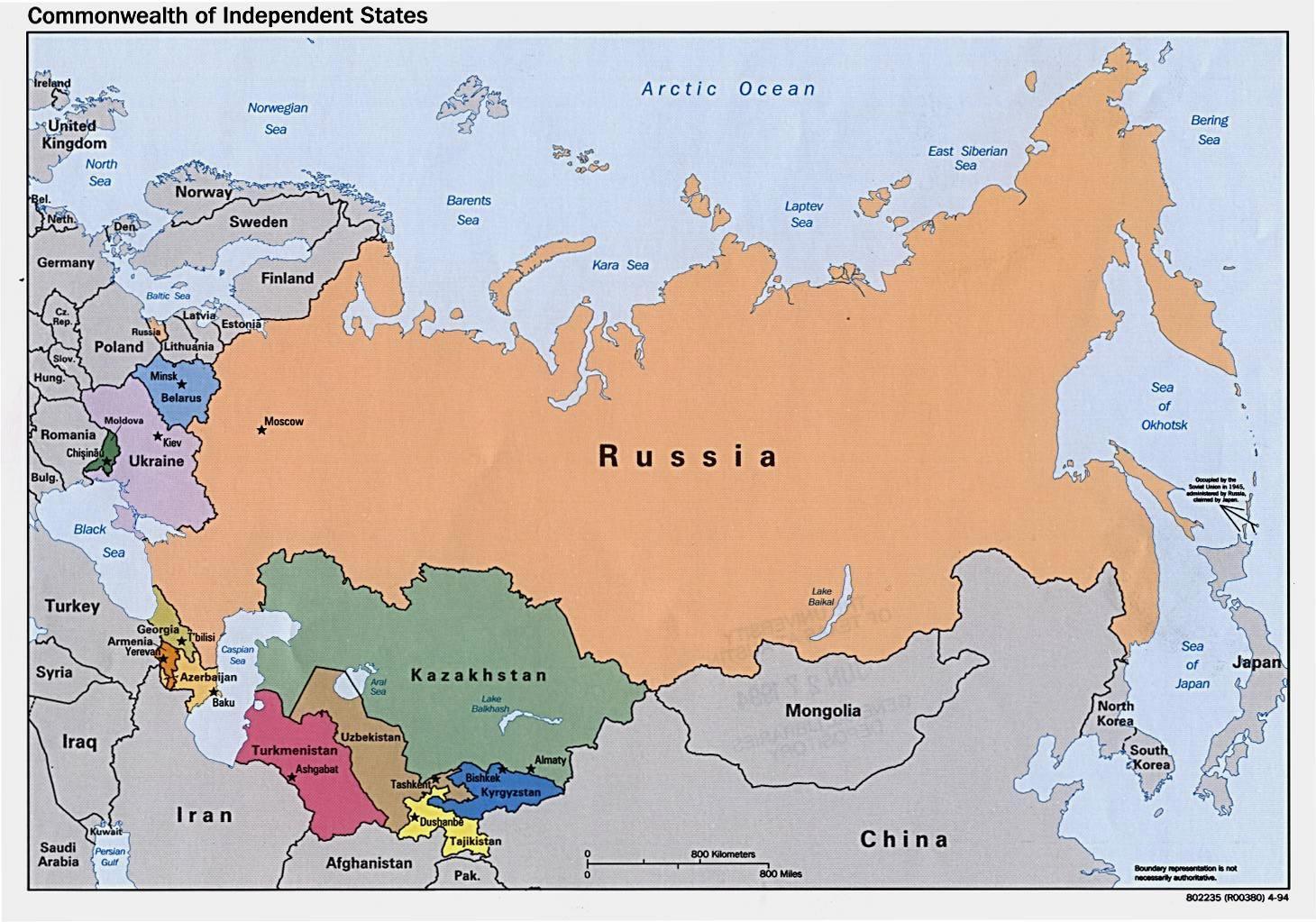 Rusiya I Mongoliya Karta Na Rusiya Mongoliya Iztochna Aziya Aziya